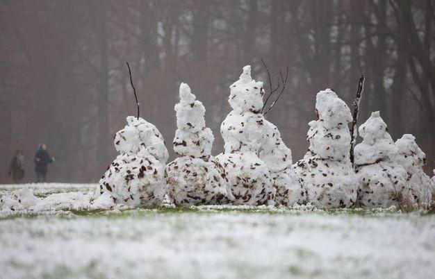 Pupazzo di neve Bielefeld (foto AFP)