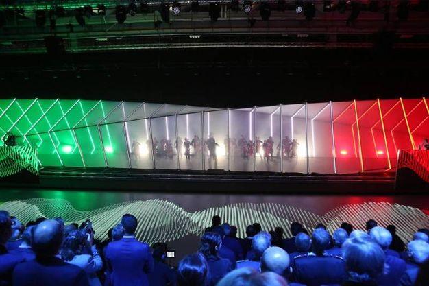 La presentazione tricolore (Ansa)