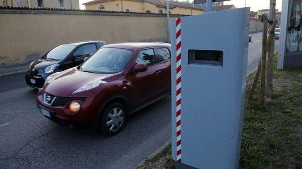 L'autovelox in viale Panzacchi