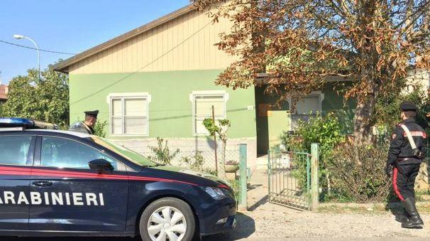 La casa di Benini dove gli agenti hanno effettuato diversi sopralluoghi