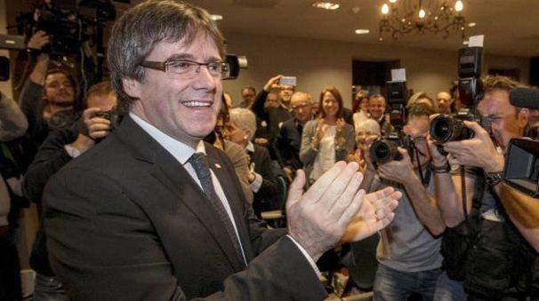 Carles Puigdemont, presidente catalano destituito (Ansa)