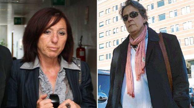 Le imputate Giuliana Feliciani e Marzia Corini