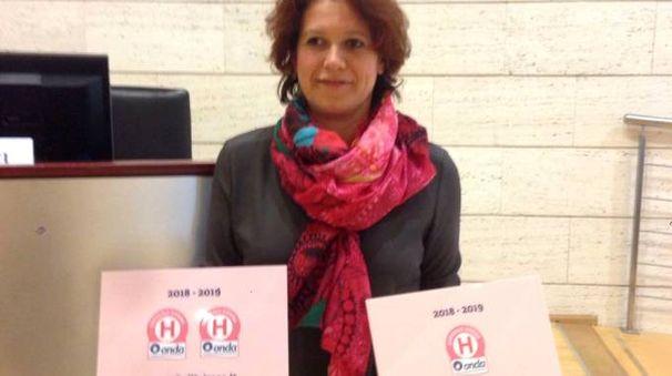 Elisa Pesenti  della Direzione medica dell'Asst Lecco che ha ritirato i Bollini rosa