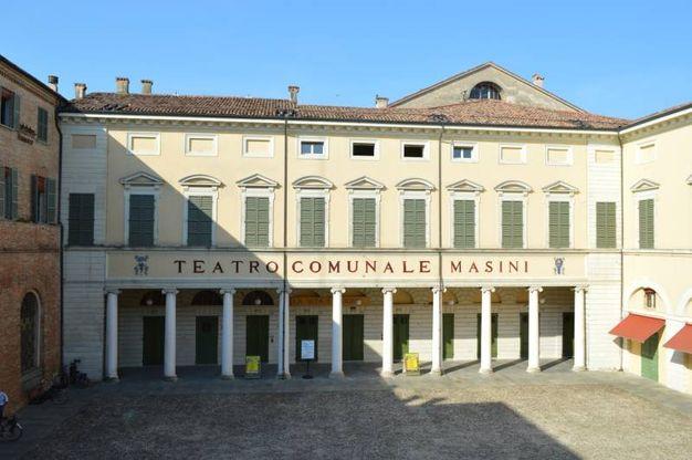 Alcuni scorci interi ed esterni del teatro comunale di faenza, Angelo Masini