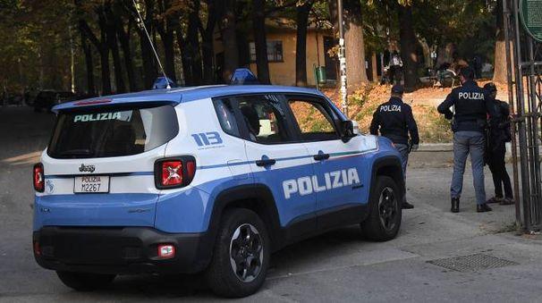 La polizia durante i controlli in Montagnola