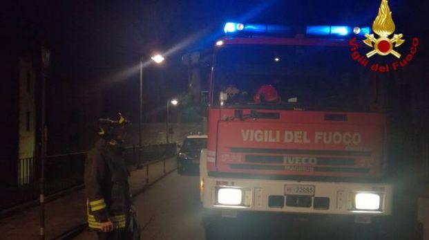 I vigili del fuoco sul luogo