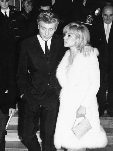 Con la prima moglie Sylvie Vartan (Ansa)