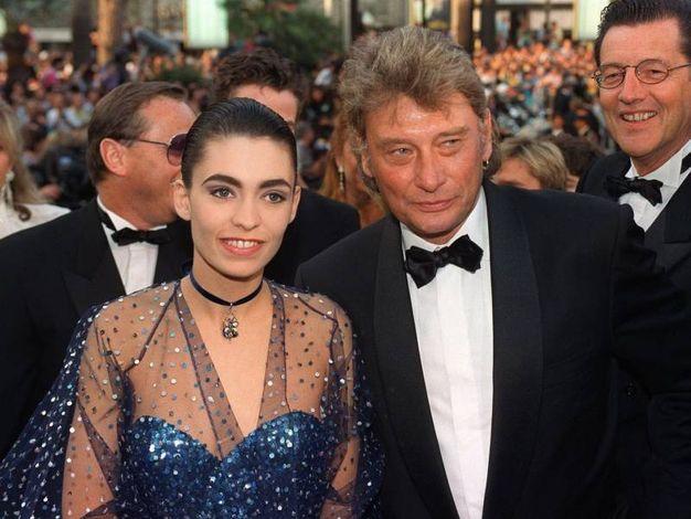 Con la fidanzata Adeline nel 1992 (Afp)