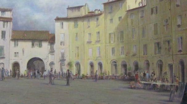 Uno dei quadri di Minarini ospiti a Certaldo