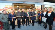 All'apertura sono intervenuti anche il presidente di Arca Giovanni Baldacci e il presidente del Gruppo Unicomm Cavaliere Marcello Cestaro (Foto Frasca)