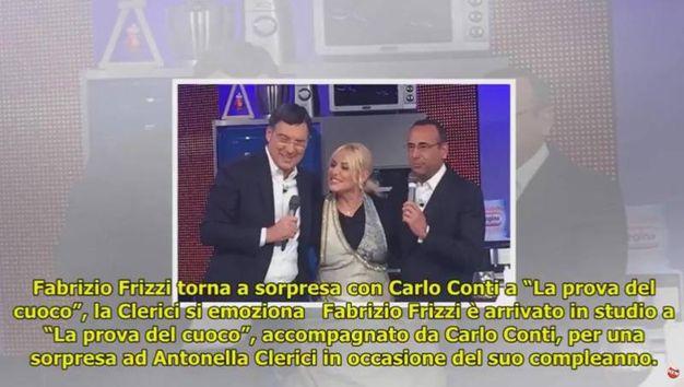 Fabrizio Frizzi ospite di Antonella Clerici a 'La prova del cuoco'(Ansa)