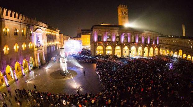 Il Capodanno 2017 in Piazza maggiore a Bologna (Foto Schicchi)