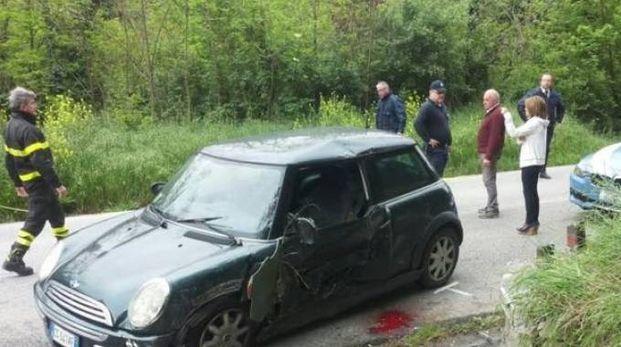 L'auto subito dopo l'incidente