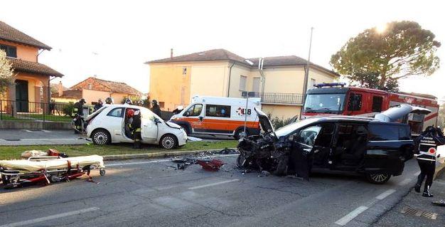 Lo scontro è avvenuto in via 8 marzo a San Lorenzo di Lugo (Scardovi)