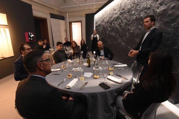 La cena nella sala delle opere