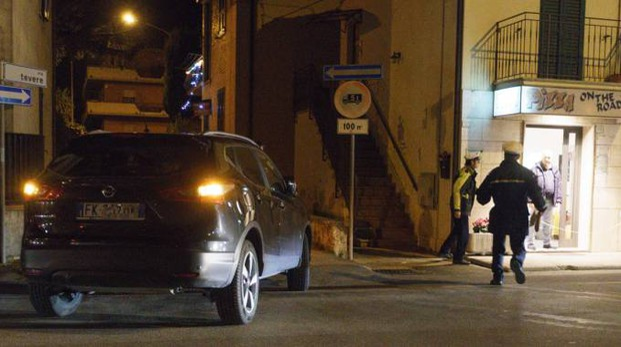 I rilievi dopo l'investimento sulla statale Adriatica (Foto Zeppilli)
