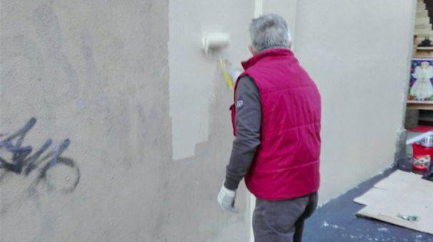 I volontari al lavoro a Cantù