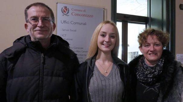 LuisaSophie Woolaway con mamma Maggie e papà Nigel