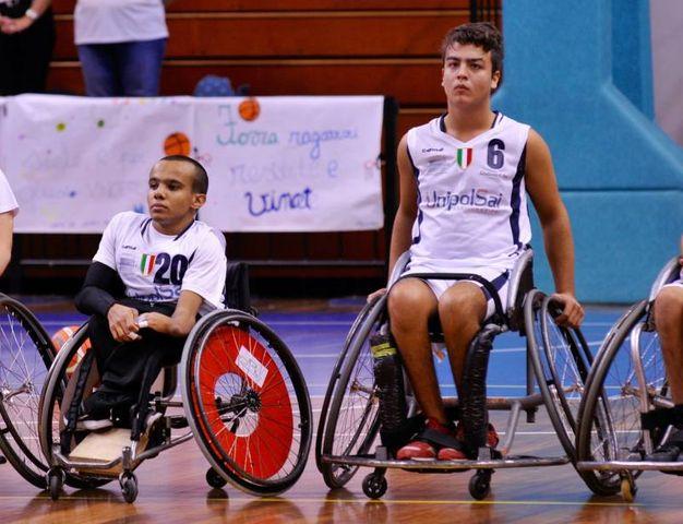 Alessandro Pedron e Fabio Izzo durante una fase di gioco