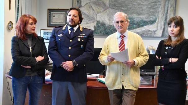 Da sinistra Moretti,  Dulvi Corcione, Giubilaro, Iacopini