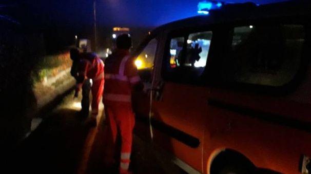 L'ambulanza  sul posto
