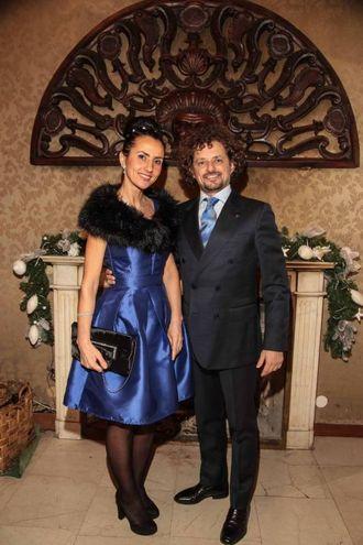 """Villa Viviani, la """"Cena dell'Amicizia"""" di Fimaa-Confcommercio. Danny Decembri e Alme Krajni (New Press Photo)"""