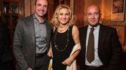 """Villa Viviani, la """"Cena dell'Amicizia"""" di Fimaa-Confcommercio.  Raffaello Salvadori, Flora Frroku e FRancesco Portalupi (New Press Photo)"""