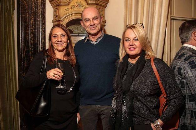 """Villa Viviani, la """"Cena dell'Amicizia"""" di Fimaa-Confcommercio. Stefania Castelli,  Alessandro Pecori, Gloria Corti (New Press Photo)"""