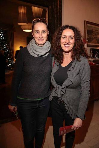 """Villa Viviani, la """"Cena dell'Amicizia"""" di Fimaa-Confcommercio. Tania Cambi e Paola Beleffi (New Press Photo)"""