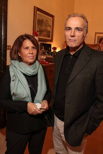 """Villa Viviani, la """"Cena dell'Amicizia"""" di Fimaa-Confcommercio. Fabiana Pucci e Andrea Leoni (New Press Photo)"""