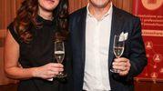 """Villa Viviani, la """"Cena dell'Amicizia"""" di Fimaa-Confcommercio. Ilaria Maida e Leonardo Boschi (New Press Photo)"""