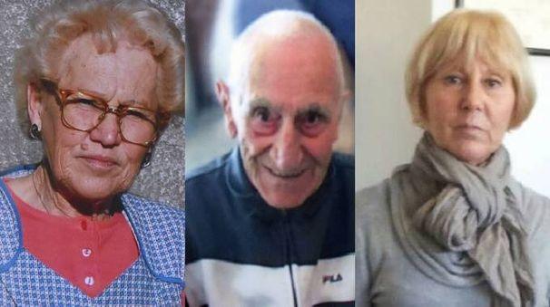 Le vittime del tallio, da sinistra: Maria Gioia Pittana, Giovanni e Patrizia Del Zotto
