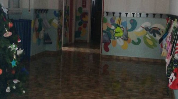 La scuola allagata