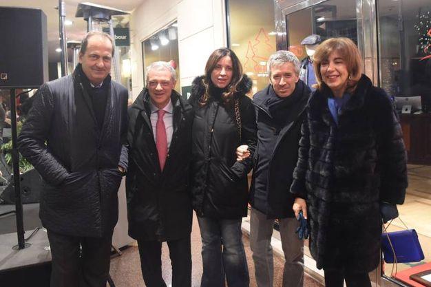 Bergamini, Alessandro Bonfiglioli, Claudio Fenucci con la moglie, Paola Pizzighini (foto Schicchi)