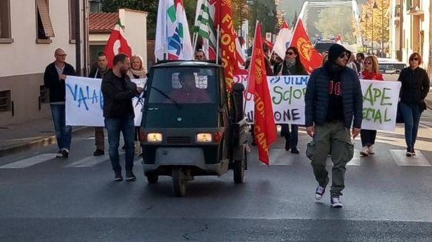 Una recente manifestazione dei lavoratori dell'Abb di Terranuova