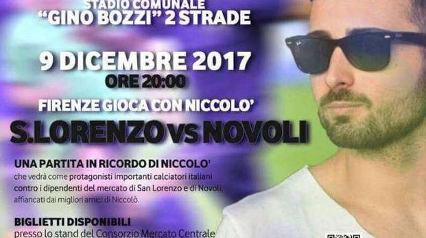 La locandina della serata benefica dedicata a Niccolò Ciatti