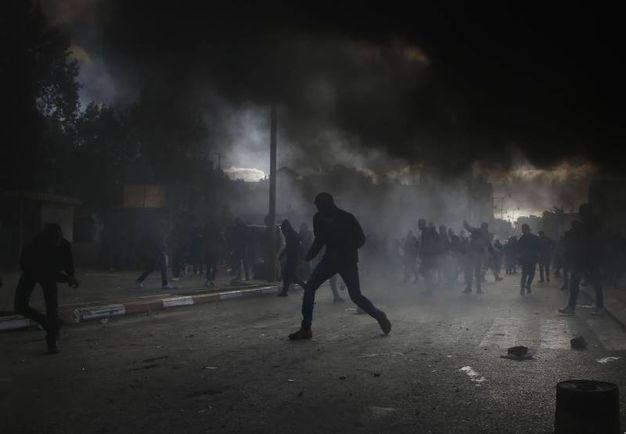 Scontri e caos a Betlemme (AFP)