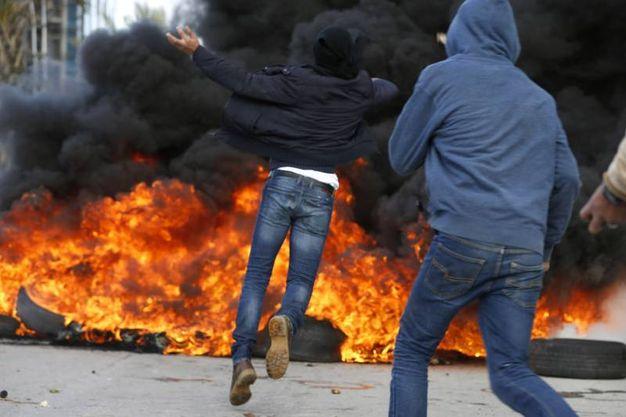 Gerusalemme, protesta palestinese a Ramallah (Afp)
