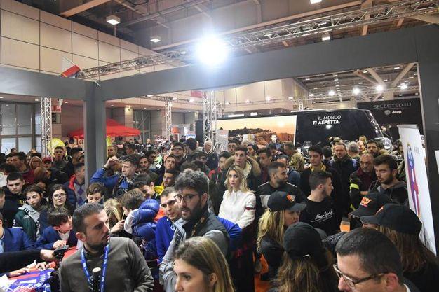 Folla per il Bfc al Motor Show (FotoSchicchi)