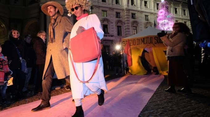 Red carpet alternativo per la Prima della Scala (Newpress)