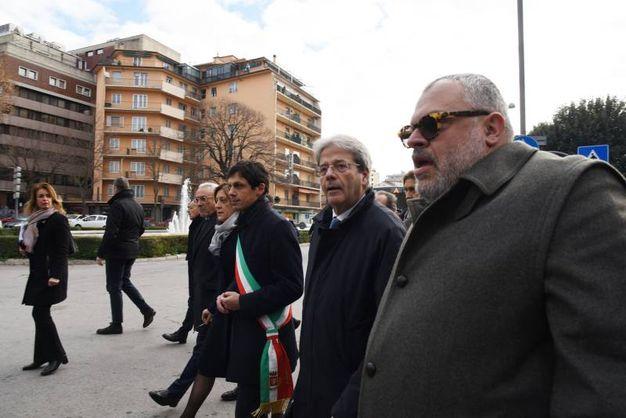 Perugia: il presidente del Consiglio, Paolo Gentiloni, visita il quartiere di Fontivegge (Crocchioni)