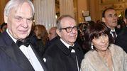 Pereira insieme al ministro Padoan e la moglie (Newpress)