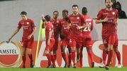 Zulte-Lazio 1-0, gol di Nill  De Pauw (Ansa)