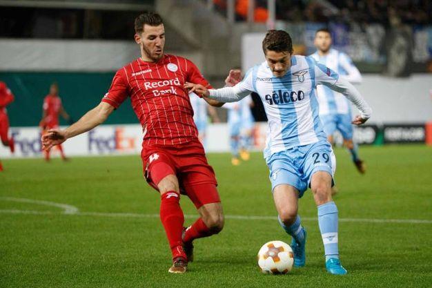 Zulte-Lazio 2-0, gol di Michael Heylen (Afp)
