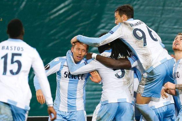 Zulte-Lazio 2-2, gol di Lucas Leiva (Afp)