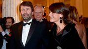 Il ministro Dario Franceschini e la moglie Michela Di Biase (Afp)