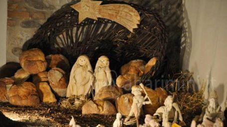 Presepe di pane nel Mulino Sapignoli - Poggio Torriana (RN)