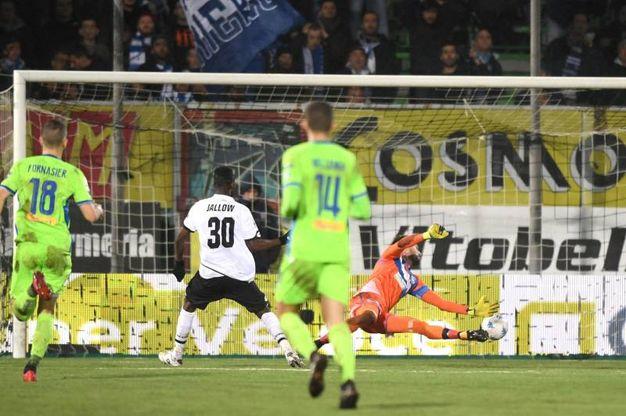 Pareggio del Cesena: gol di Jallow (foto LaPresse)