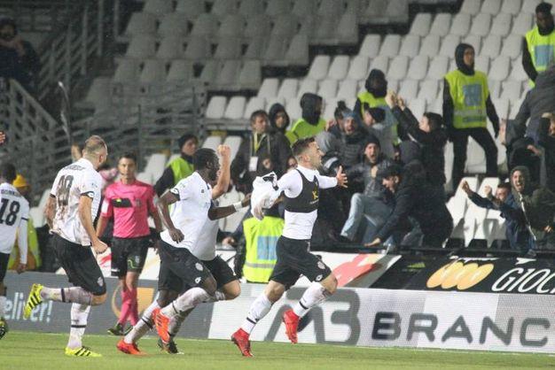 Moncini su assist di Laribi segna all'87' (foto Ravaglia)