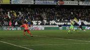 Il gol di Donkor su contropiede di Kone (foto Ravaglia)